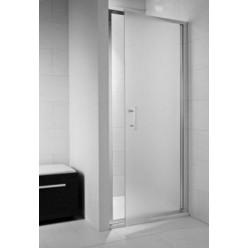 JIKA Cubito Pure - Sprchové dveře pivotové 800 L/P, sklo dekor arctic, stříbrná lesklá H2542410026661