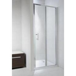 JIKA Cubito Pure - Sprchové dveře skládací 900 L/P, sklo transparentní, stříbrná lesklá H2552420026681