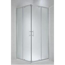 JIKA Cubito Pure - Sprchový kout 780-795x780-795 mm, stříbrná/čiré sklo H2512410026681