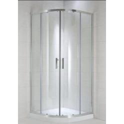 JIKA Cubito Pure - Sprchový kout čtvrtkruhový 780-795x780-795 mm, stříbrná/čiré sklo H2532410026681