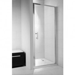 JIKA Cubito Pure - Sprchové dveře pivotové 800 L/P, sklo transparentní, stříbrná lesklá H2542410026681