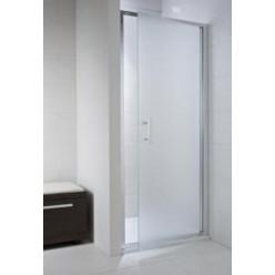 JIKA Cubito Pure - Sprchové dveře pivotové 1000 L/P, sklo transparentní, stříbrná leská H2542430026681