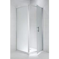 JIKA Cubito Pure - Sprchová pevná stěna 1000, sklo dekor arctic, stříbrná lesklá H2972430026661