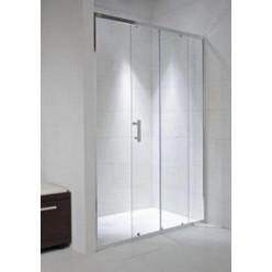 JIKA Cubito Pure - Sprchové dveře, 1 posuvný segment, 1 pevný segment, stříbrný profil, levé/pravé , 1400mm x 30mm x 1950mm - sklo arctic H2422480026661