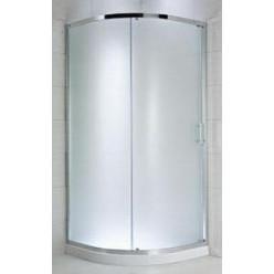 JIKA Cubito Pure - Sprchový kout čtvrtkruhový 880-898x880-898 mm, stříbrná/čiré sklo H2502420026681