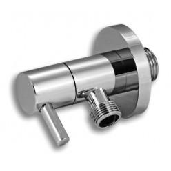 """Novaservis - Ventil rohový 1/2x 3/8\"""" oválny s keramickým ventilem chrom CF3006/10"""