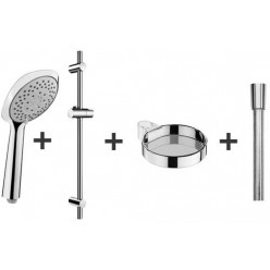 JIKA Cubito Pure - Sprchová souprava Cubito-N 130 mm, 4 proudy, chrom H3651X00044731