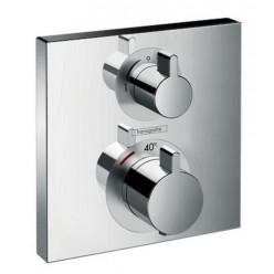 HANSGROHE Ecostat Square - Termostatická baterie pod omítku s uzavíracím ventilem, chrom 15714000