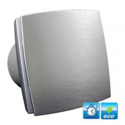 DALAP - Ventilátor 100 BFAZ ECO koupelnový tichý s doběhem v imitaci hliník 41021
