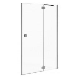 JIKA Cubito Pure - sprchové dveře jednokřídlé bezrámové s pevným segmentem 1000/1950 mm, levé, transparentní sklo H2544240026681