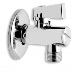 NOVASERVIS Rohový ventil s filtrem, krytkou a kovovou pákou 1/2x1/2 CF3010/15