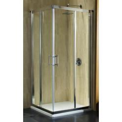 KOLO GEO-6 čtvercový kout 80x80 (775-800)x190 posuvné dveře, profil lesklý, sklo 6mm číre čast B GKDK80222003B