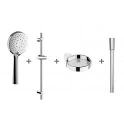 JIKA Cubito Pure - Sprchová souprava Cubito-N 110 mm, 4 proudy, chrom H3651X00044721