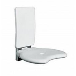 Kolo Evolution - Sprchové sedátko s opěrkou, sklopné, nerez mat L32005001