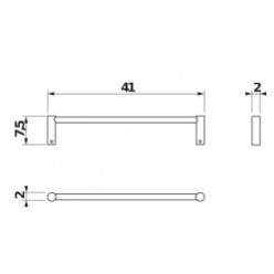 JIKA Basic - Držák ručníku 400 mm, chrom H3813A10040001