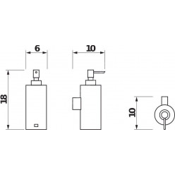 JIKA Generic - Dávkovač tekutého mýdla nástěnný, chrom H3833D20041001