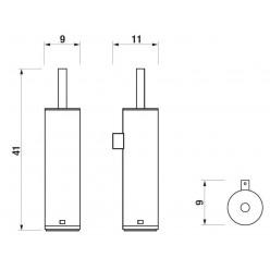 JIKA Generic - WC souprava včetně kartáče a skleněné misky, chrom H3843D10040001