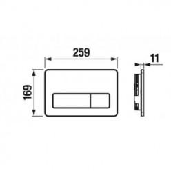 JIKA Modul - Bezdotykové ovládací tlačítko PL3-E, nerezová ocel H8906560000001