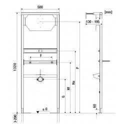 JIKA Modul - Podomítkový modul pro urinál H8936010000001