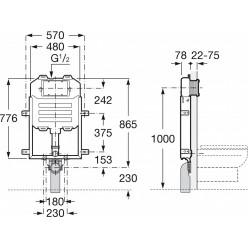 JIKA Basic - WC systém compact pro závěsné WC H8946510000001