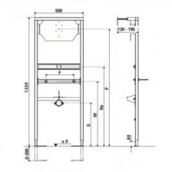 JIKA modul pro bidet, podomítková konstrukce v.112cm, nosnost 400kg H8966550000001
