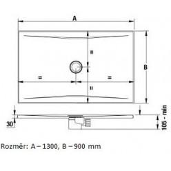 JIKA Cubito Pure - Sprchová vanička ocelová premium 1200x900 mm, černá H2164210160001