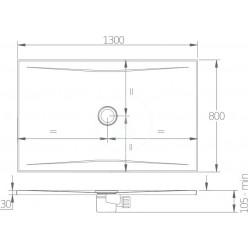 JIKA Pure - Sprchová vanička ocelová premium 1300x800 mm, bílá H2164220000001