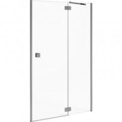 JIKA Cubito Pure - sprchové dveře jednokřídlé bezrámové s pevným segmentem 1000/1950mm, pravé, transparentní sklo s Jika perla Glass H2544250026681