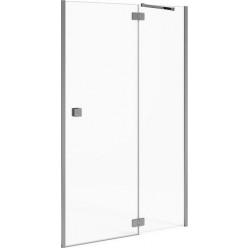 JIKA Cubito Pure - sprchové dveře jednokřídlé bezrámové s pevným segmentem 1200/1950mm, levé, transparentní sklo s Jika perla Glass H2544260026681