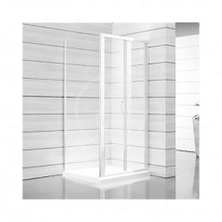 JIKA Lyra plus - Sprchové dveře skládací 800 L/P, sklo dekor stripy, bílá H2553810006651