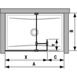 JIKA Pure - Skleněná stěna boční 680 mm pro sprchovou vaničku 1200x800 mm, 1200x900 mm, 1300x800 mm a 1300x900 mm s úpravou Jika Perla Glass, 700mm x 200mm x 2000mm H2684210026681