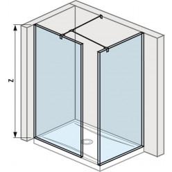 JIKA Cubito Pure Walk in - do rohu 680×800mm pro vaničku 1200×800, 1300×800mm vč. dvou bočních profilů a vzpěry, perla GLASS H2684230026681
