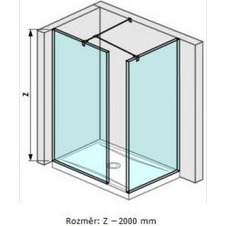 JIKA Cubito Pure Walk in - do rohu 795×800mm pro vaničku 1400×800mm vč. dvou bočních profilů a vzpěry, perla GLASS H2684250026681