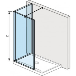 JIKA Pure - Skleněná stěna L 1200x900 mm pro sprchovou vaničku 1200x900 mm, s úpravou Jika Perla Glass, 1200mm x 200mm x 2000mm H2694220026681