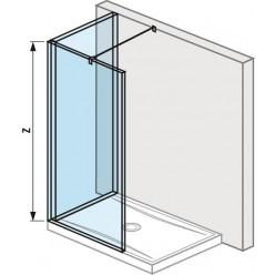 JIKA Pure - Skleněná stěna L 1300x800 mm pro sprchovou vaničku 1300x800 mm, s úpravou Jika Perla Glass, 1300mm x 200mm x 2000mm H2694230026681