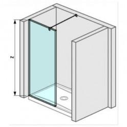 JIKA Pure - Skleněná stěna boční 880 mm pro sprchovou vaničku 900x900 mm s úpravou Jika Perla Glass, 900mm x 200mm x 2000mm H2694270026681