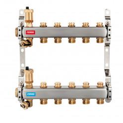 NOVASERVIS Rozdělovač nerez s regulačními mechan. ventily 2 okruhy SN-ROU02S
