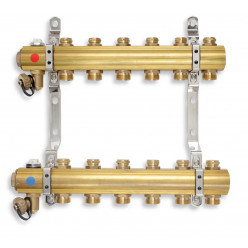 NOVASERVIS Rozdělovač s regulačními a mechanickými ventily 4 okruhy RO04S