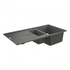 GROHE Dřezy - Kompozitní dřez K400 s automatickým odtokem, 1000x500 mm, granitová šedá 31642AT0