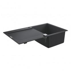 GROHE Dřezy - Kompozitní dřez K500 s automatickým odtokem, 860x500 mm, granitová černá 31644AP0
