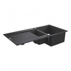 Grohe Dřezy - Kompozitní dřez K500 s automatickým odtokem, 1000x500 mm, granitová černá 31646AP0