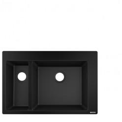 Hansgrohe Dřezy - Vestavný granitový dřez S510-F635, grafitová černá 43315170