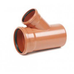 REHAU - Odbočka KGEA PVC 250/125/45° 171832