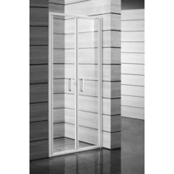 JIKA Lyra plus - Sprchové dveře dvoukřídlé 900 mm, sklo transparent/bílá H2563820006681