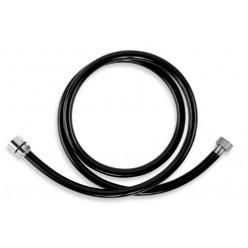 NOVASERVIS Sprchová hadice plastová 150 cm černá-chrom PVC/150,5