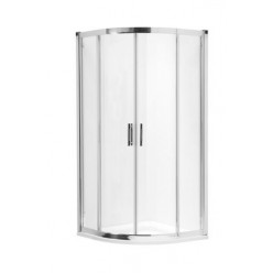KOLO GEO-6 čtvrtkruhová sprchový kout 80x80 s posuv.dveřmi(A+B časť),profil stříbrná lesklá,sklo číre GKPG80222003A