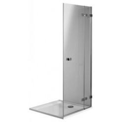 KOLO NEXT sprchové dveře otevírací 90 (87-88,8)x195 pravé 2-dílné pro boční stenu profil strieb. lesklý sklo 6/8mm číre ReflexKolo HDSF90222003R