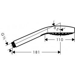 HANSGROHE Croma Select E Vario - Ruční sprcha 3-polohová, bílá/chrom 26812400
