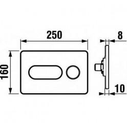 JIKA Modul - Ovládací tlačítko PL8, Dual Flush, matný chrom H8936460070001