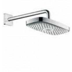 Hansgrohe Raindance Select E - Horní sprcha 300 2jet se sprchovým ramenem 390 mm, Ecosmart, bílá/chrom 26609400